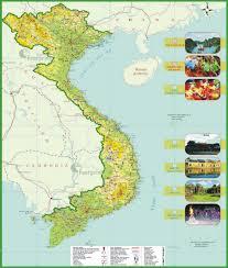 Choisir votre destination à visiter sur la carte du Vietnam